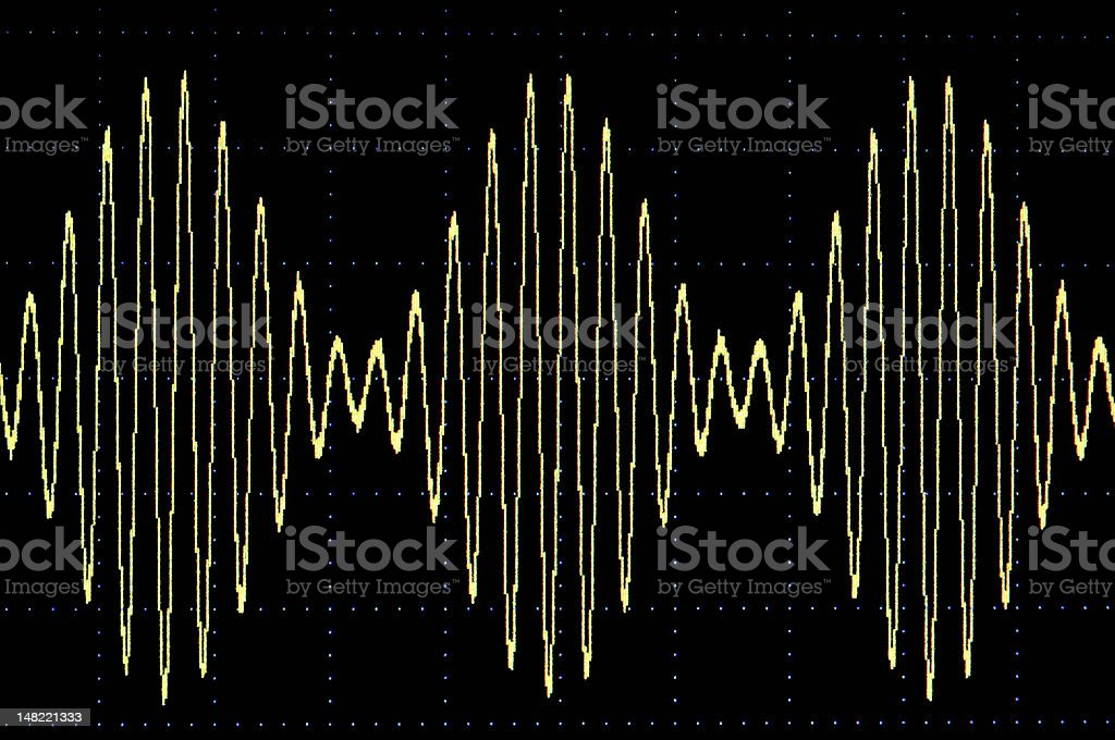 Modulated sine wave royalty-free stock photo