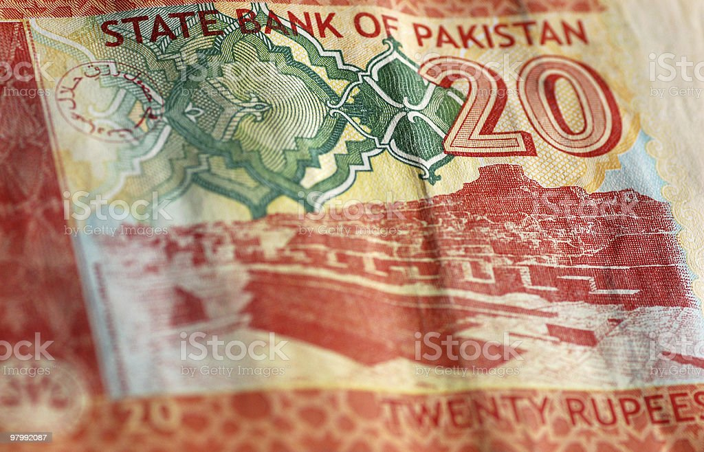 Moenjo-daro banknote of Pakistan royalty-free stock photo
