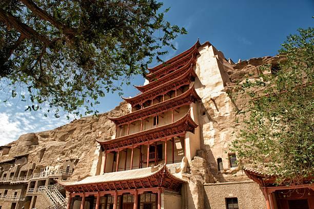 Mogao Caves on the historic Silk road stock photo