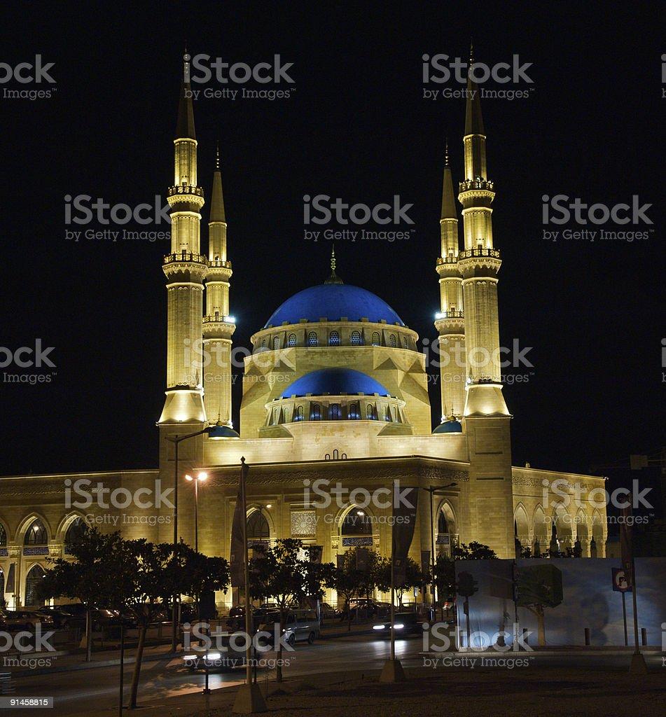 Mohamed Al-Amin mosque, Beirut, Lebanon royalty-free stock photo