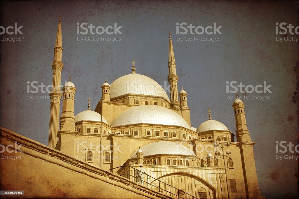 Mohamed Ali mosque,Cairo,grunge effect stock photo