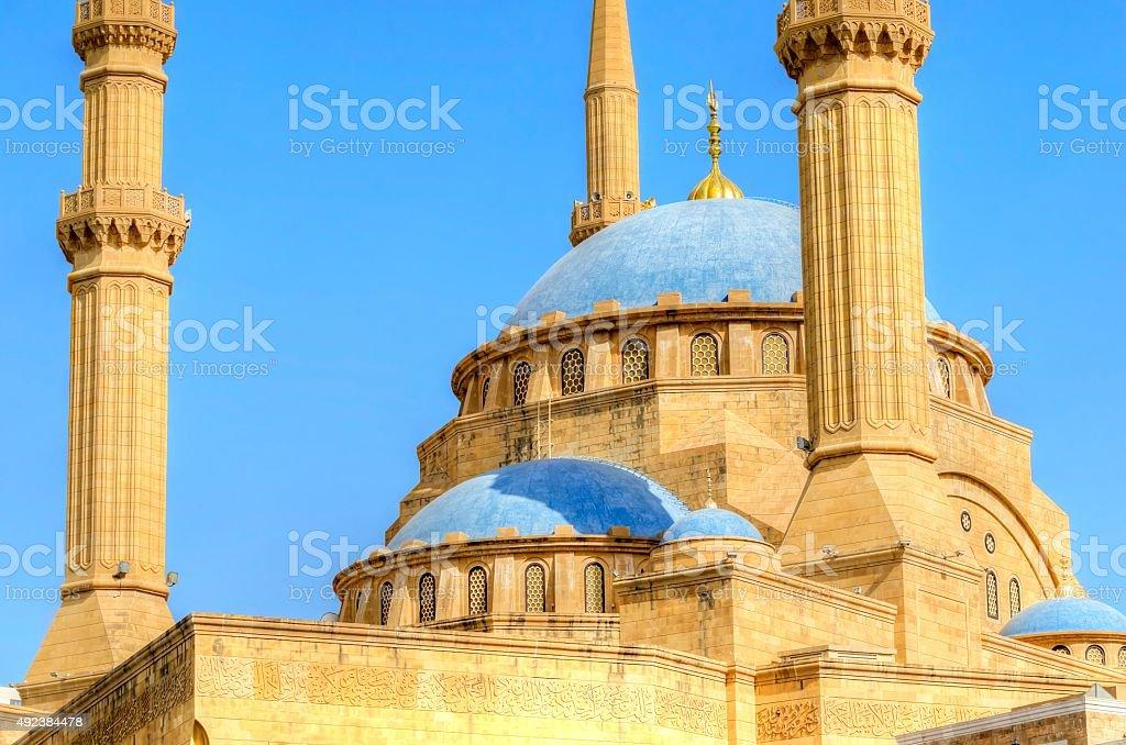 Mohammad Al-Amin Mosque stock photo