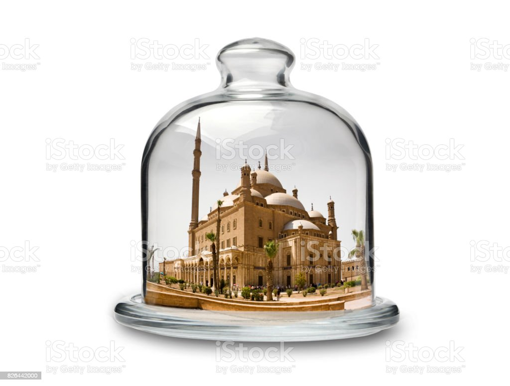 Mohammad Ali Mosque in Crystal Cakestand stock photo