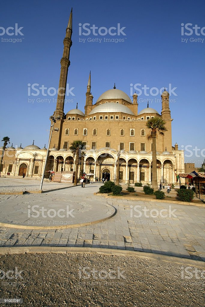 Mohammed Ali Mosque in Cairo, Egypt stock photo