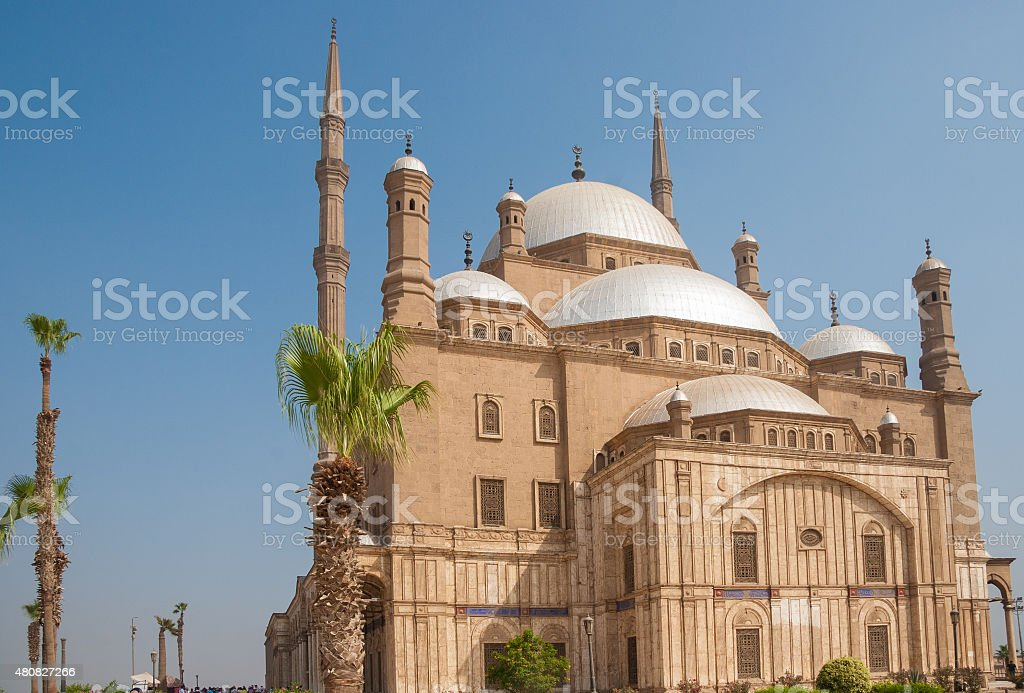 Mohammed Ali or Alabaster Mosque,  Saladin Citadel, Cairo, Egypt stock photo