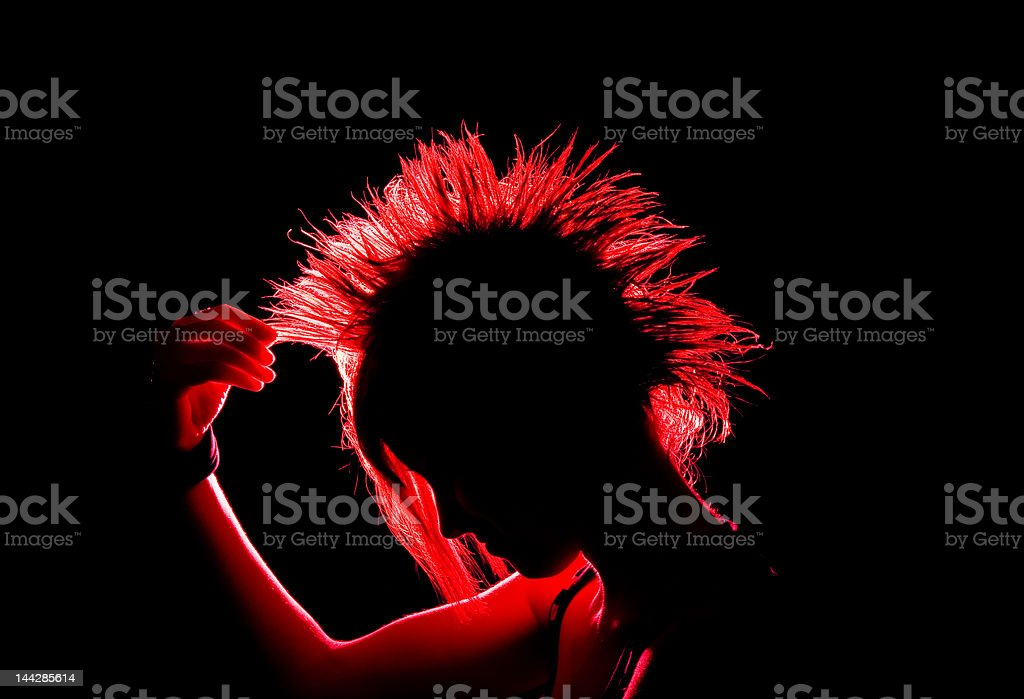 Mohican Silhouette stock photo