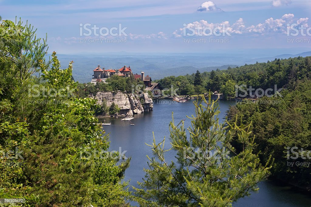Mohonk Mountain House in New Paltz, New York stock photo