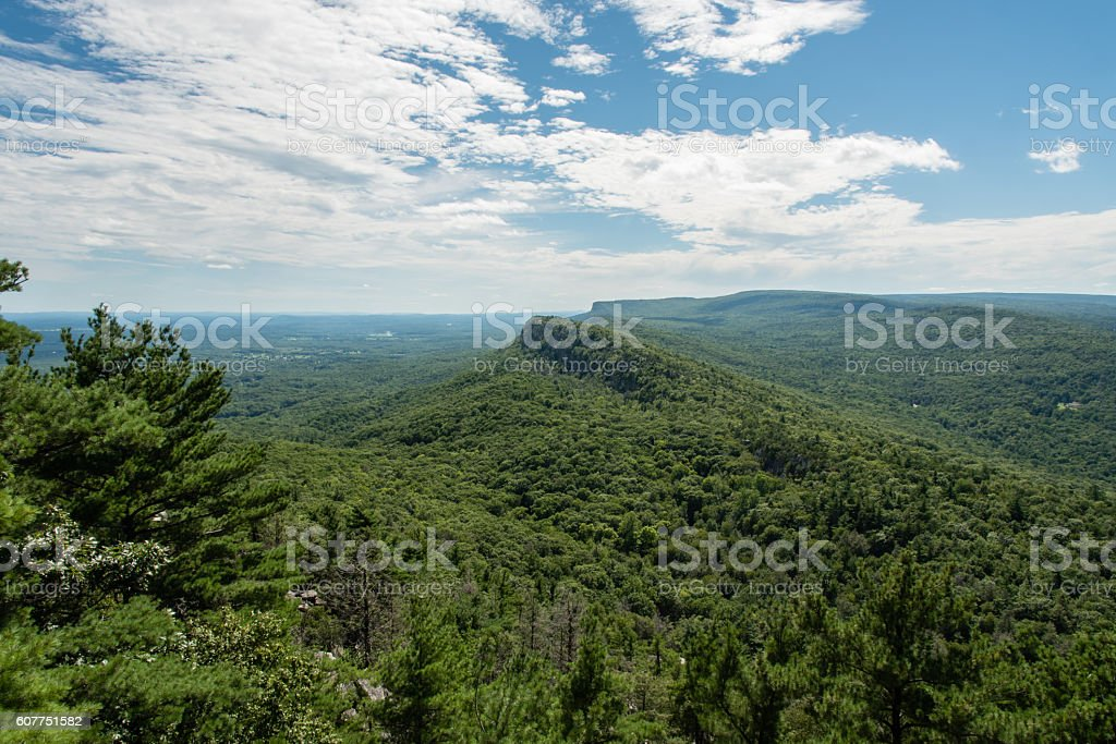 Mohonk Preserve in the summer stock photo