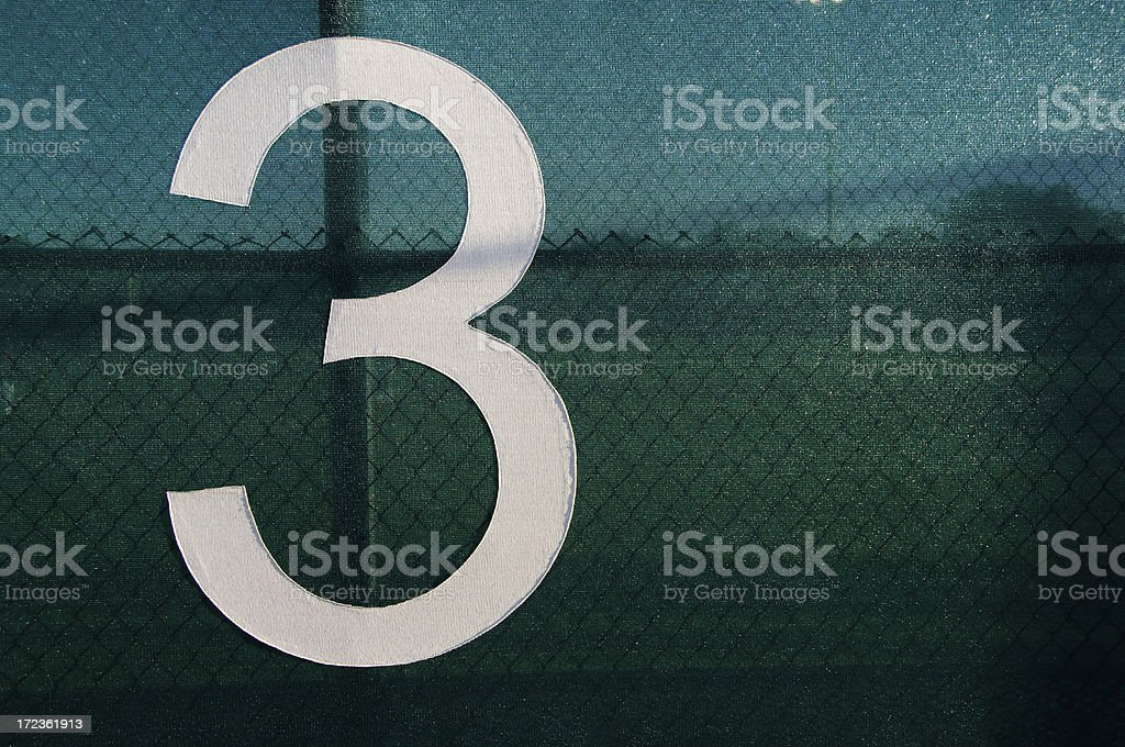 Moire Number Three Wide royalty-free stock photo
