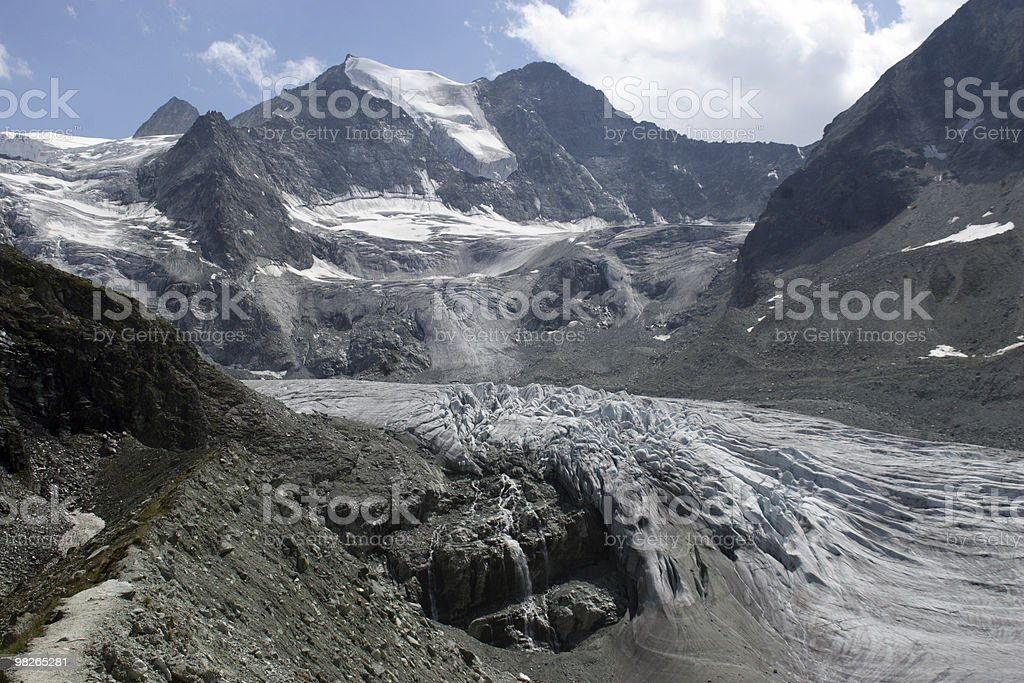 Moiry Gletscher royalty-free 스톡 사진