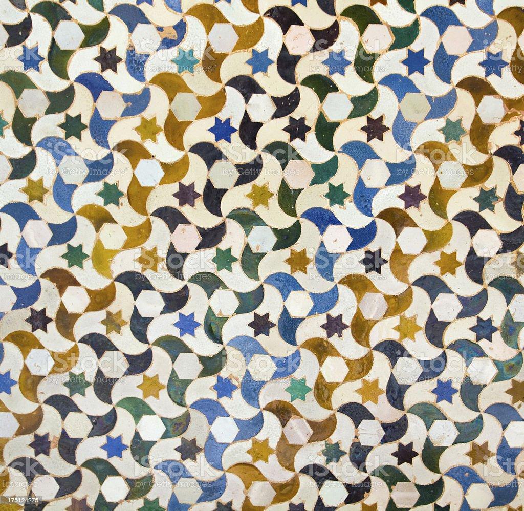 Moisaic in Alhambra, Granada. royalty-free stock photo