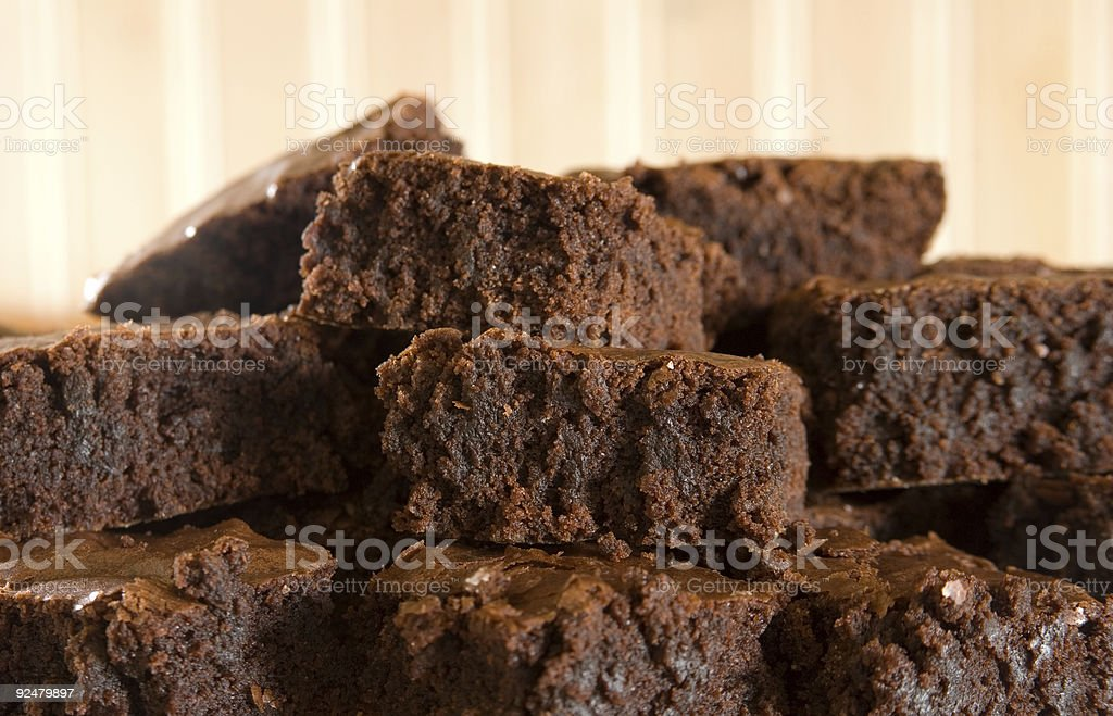 Moist Brownies royalty-free stock photo