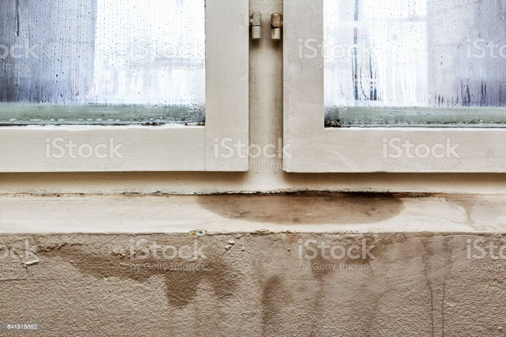 Moisture and mold -Problems in a house stock photo