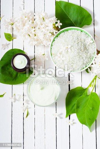 istock Moisturizer, white lilac 1128660240