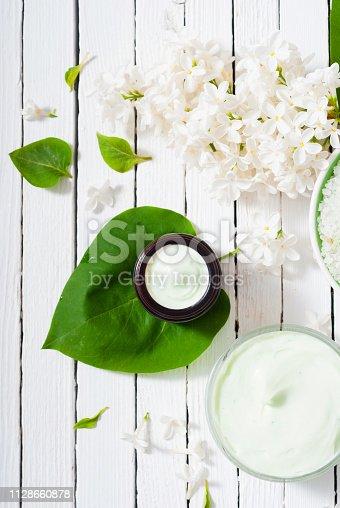 istock Moisturizer, white lilac 1128660878