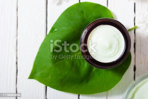 istock Moisturizer, white lilac 1128660884