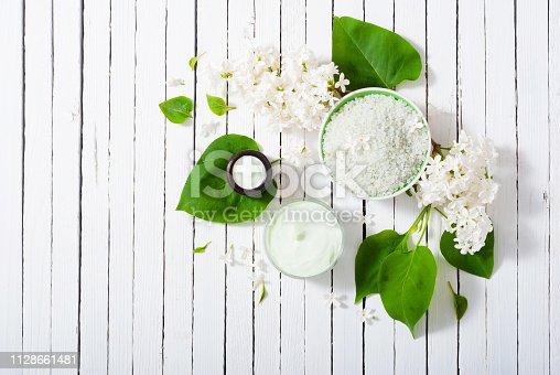istock Moisturizer, white lilac 1128661481