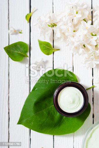 istock Moisturizer, white lilac 1128661760