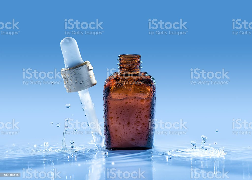 Moisturizing  serum with pipette on the top stock photo