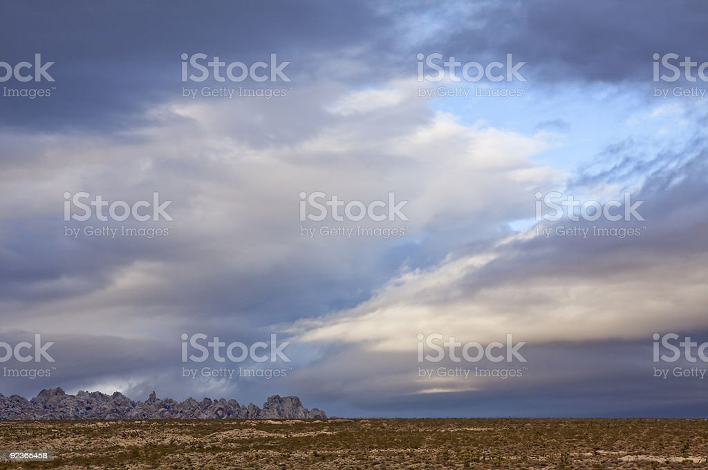 Mojave Cloudscape royalty-free stock photo