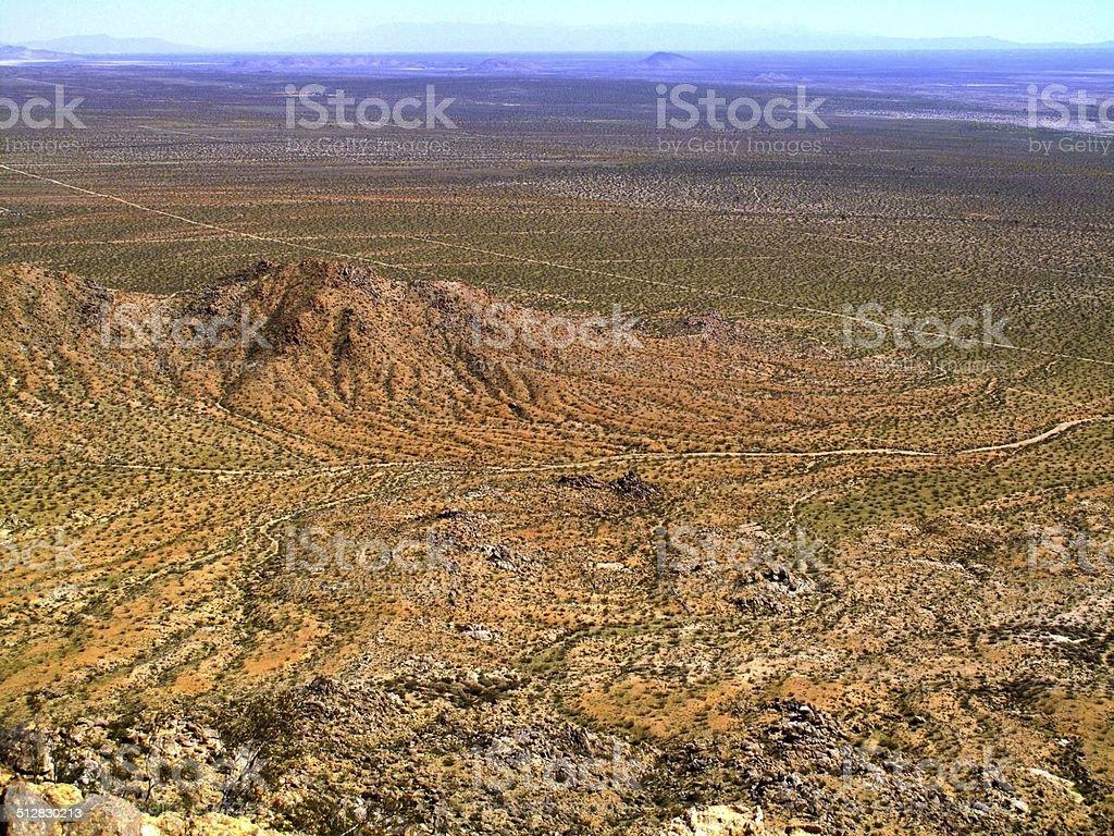 Mojave Desert Landcape stock photo
