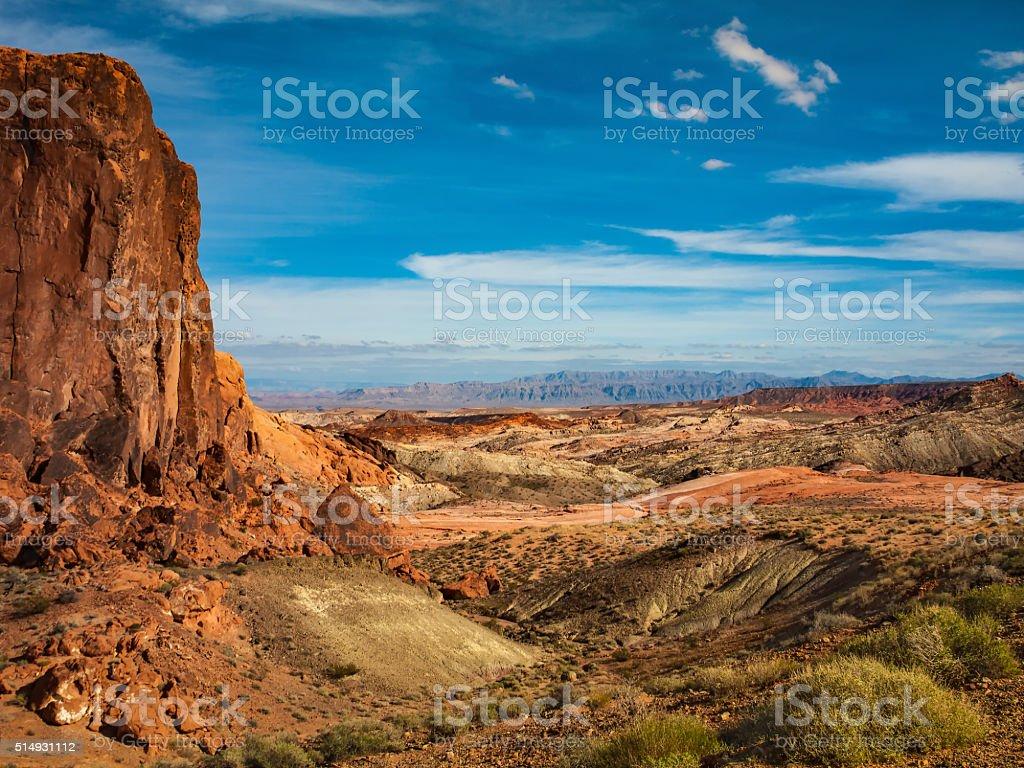 Mojave Desert Landscape stock photo
