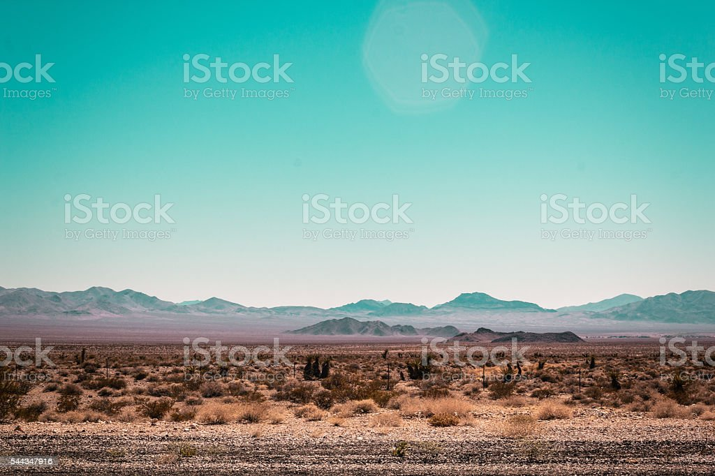 Mojave Desert near Route 66 in California stock photo