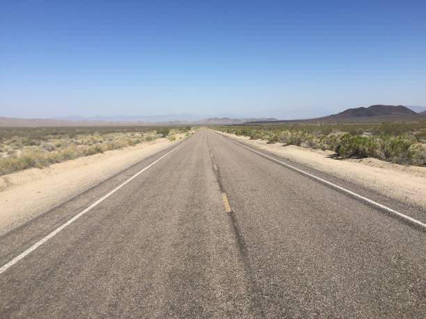Mojave Desert Road 1 stock photo