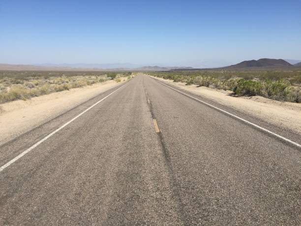 Mojave Desert Road 2 stock photo