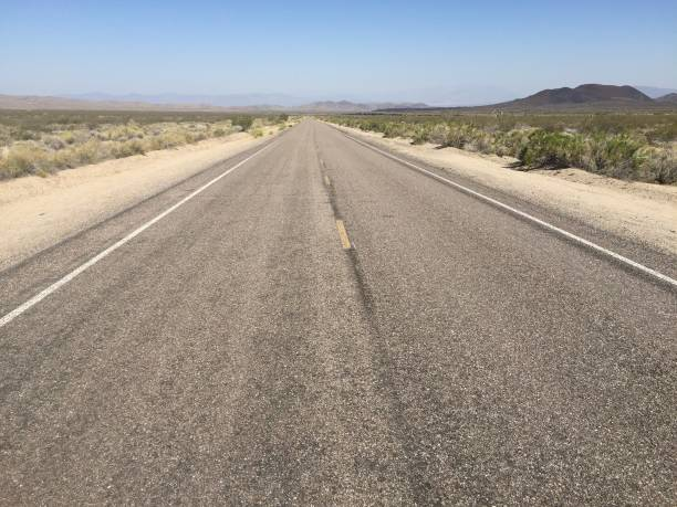 Mojave Desert Road 3 stock photo