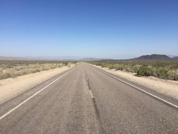 Mojave Desert Road 4 stock photo