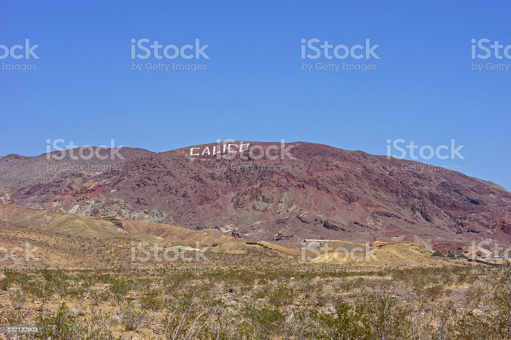 Mojave Ghost Town stock photo
