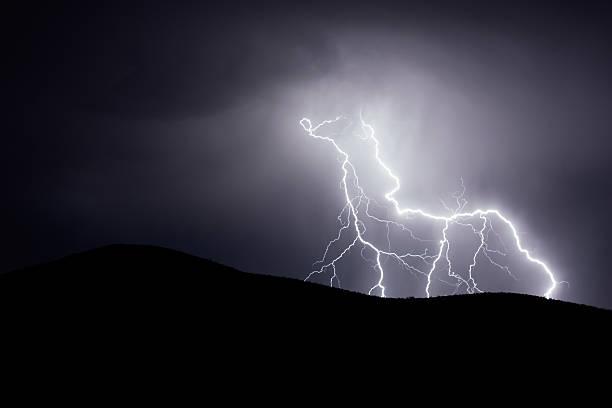 Mojave Lightning stock photo