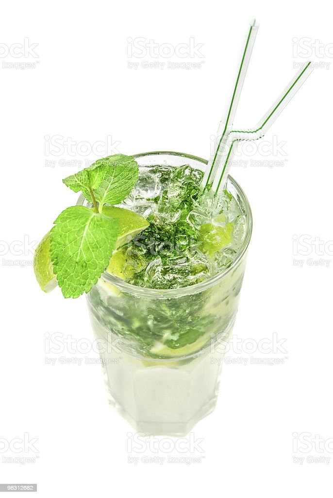 mojito alcohol fresh cocktail royalty-free stock photo