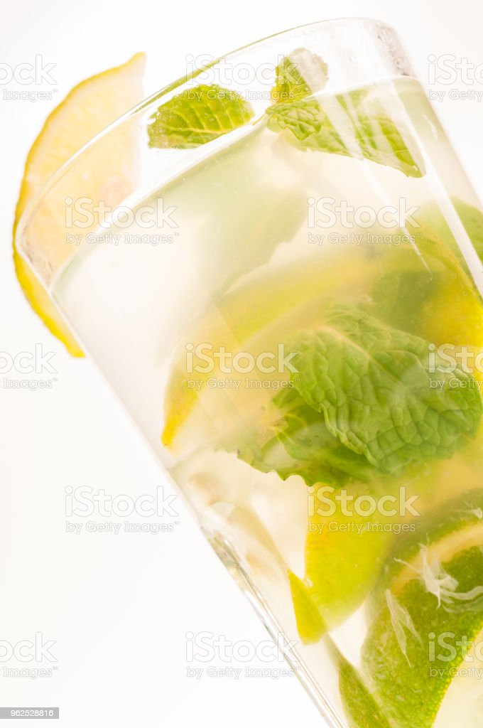 Mojito cocktail extreme close up - Royalty-free Alcohol Stock Photo