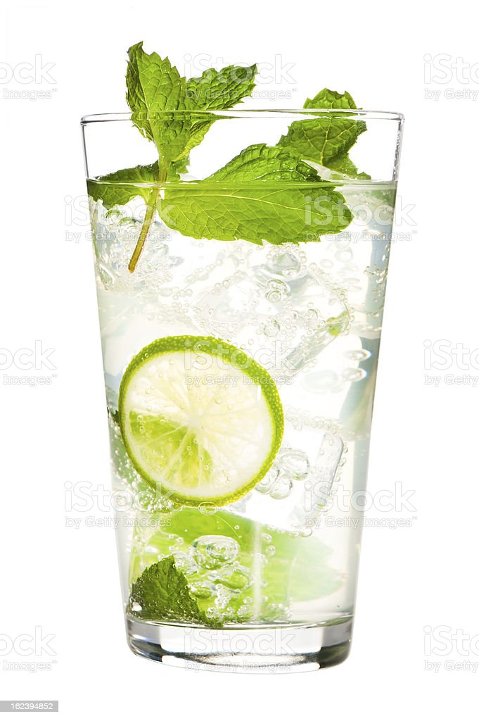 Mojito Cocktail Isolated on White Background stock photo