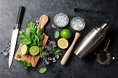 istock Mojito cocktail making 547142932