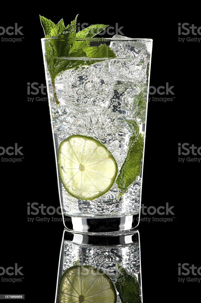 Mojito Cocktail on Black royalty-free stock photo