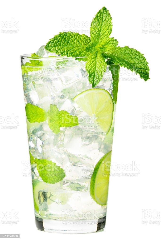 Mojito Cocktail on White stock photo
