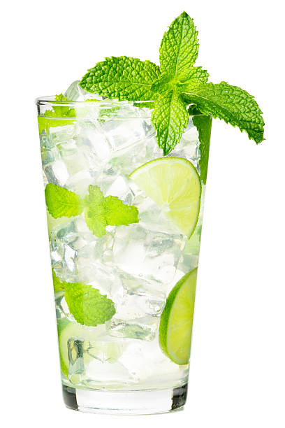 Mojito Cocktail on White Mojito Cocktail isolated on White background mojito stock pictures, royalty-free photos & images