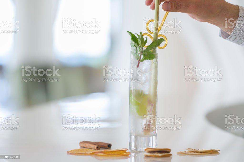 Mojito cocktail royaltyfri bildbanksbilder