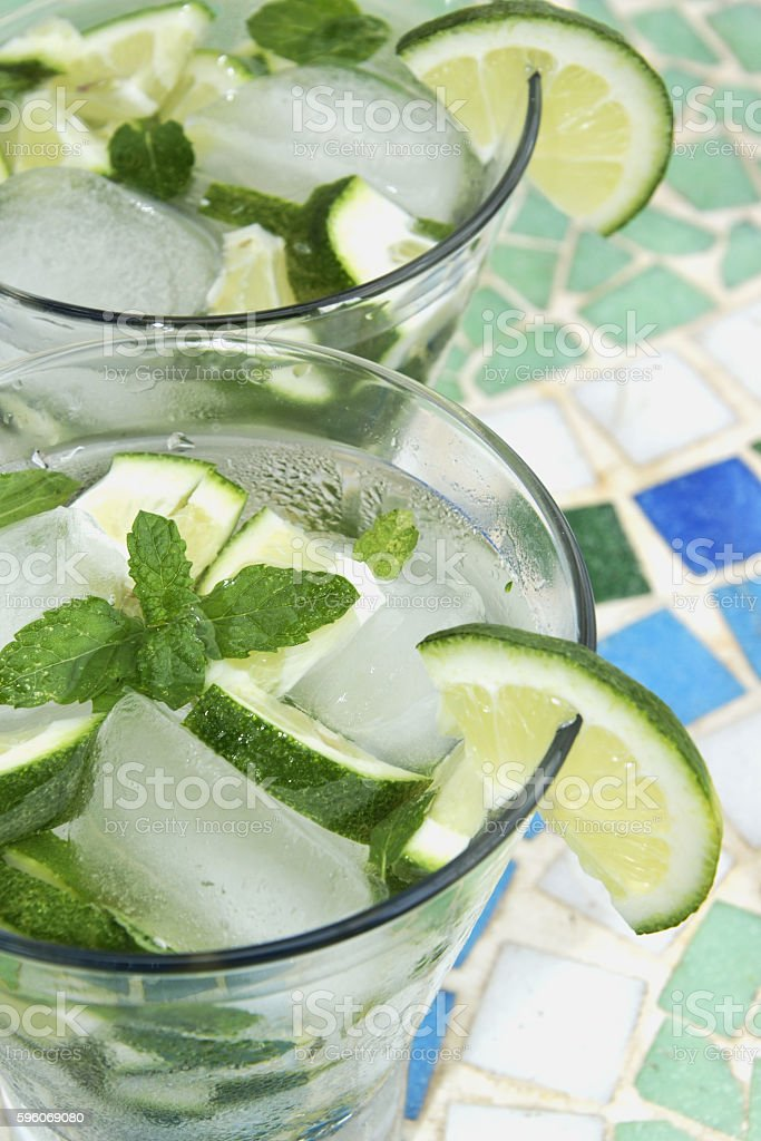 Mojito coctail  - rum,  lime, mint  and ice royalty-free stock photo