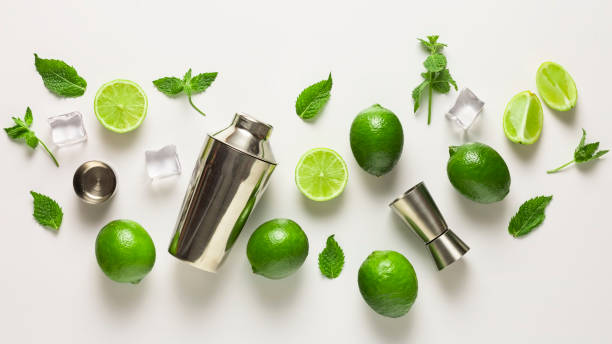 Mojito , LIME, tequila, cocktail, beach, BAR,  lemon, mocktail, cocktail, glass, fresh, frozen, mintyuila, cocktail, beach, BAR,  lemon, mocktail, cocktail, glass, fresh, frozen, minty stock photo