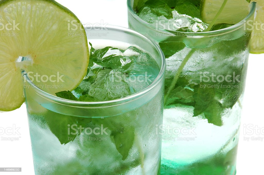 mojito long drink close up royalty-free stock photo