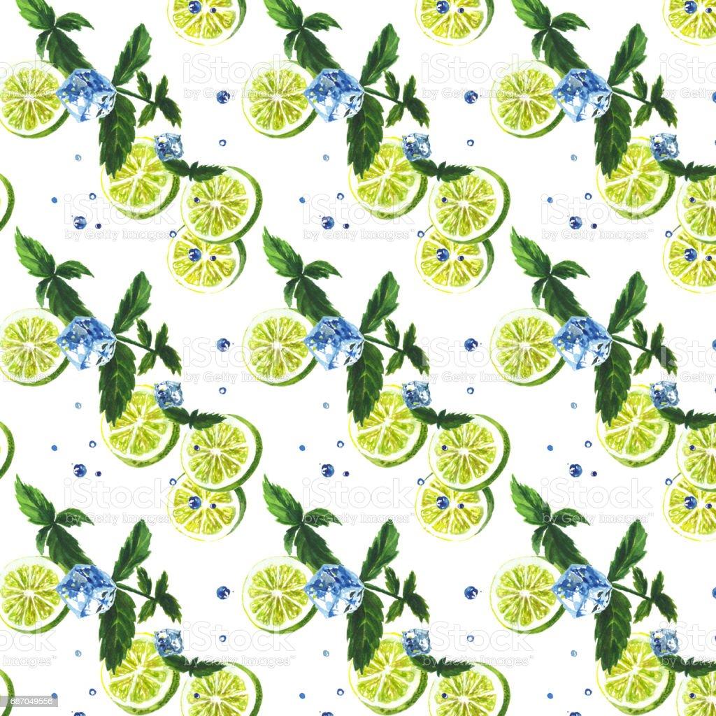 Mojito seamless pattern. Lizenzfreies stock-foto