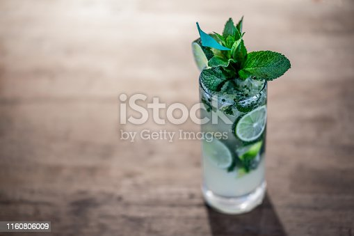 Mojito served at the bar - food and drinks concepts