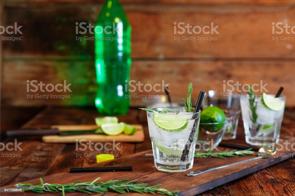 mojito, soda, non-alcoholic cocktail, cocktail, summer time, lime stock photo