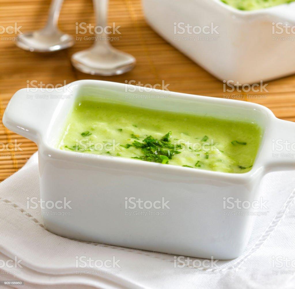 Mojo palmero, typical green sauce stock photo
