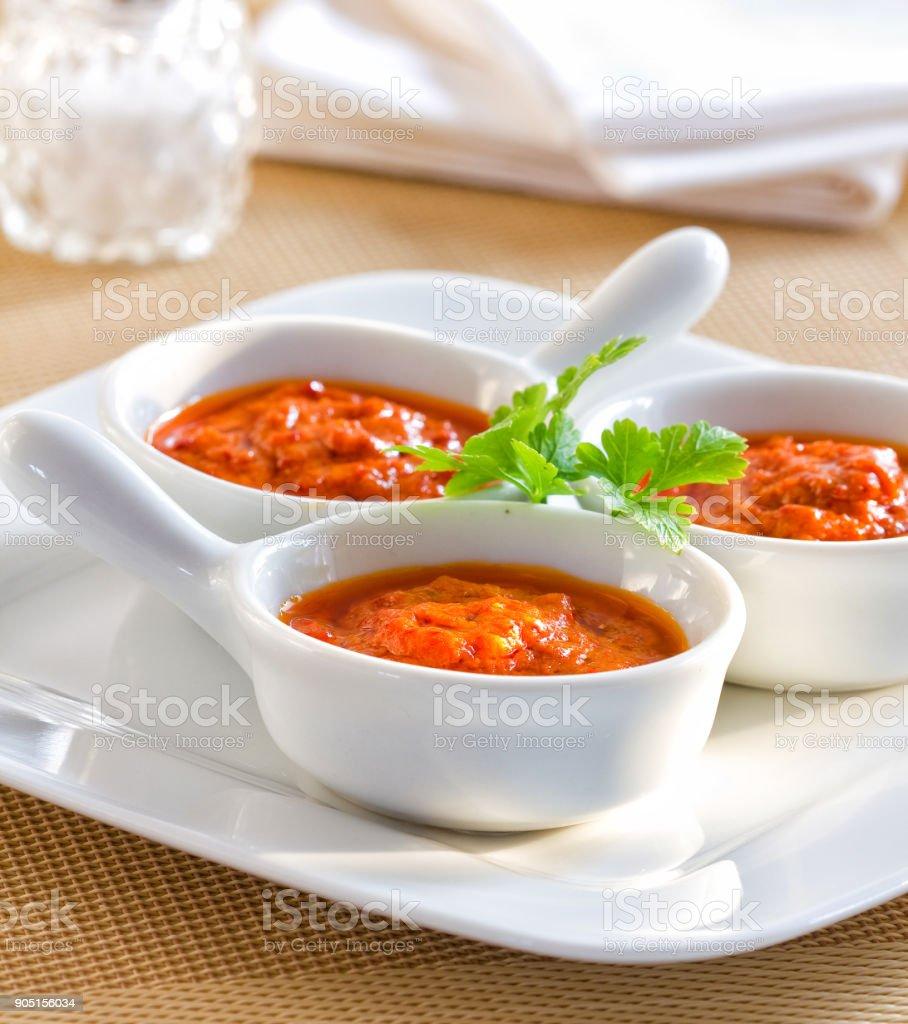 Mojo picon sauce stock photo