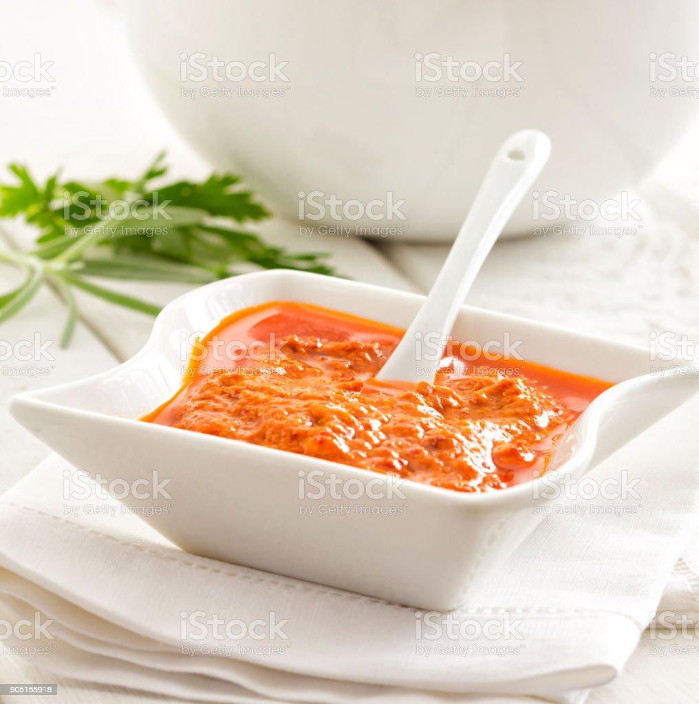 Mojo picon, spicy sauce stock photo